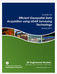 This document describes the use of Efficient Geospatial Data Acquisition using LiDAR Surveying Technology  for managing roadway assets as performance-based funding processes.