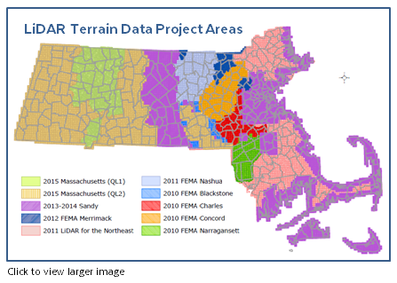 Free lidar terrain data in the scanin the scan massgis has lidar terrain and elevation data for the entire state of massachusetts the data can be used for for emergency response drainage studies and gumiabroncs Images