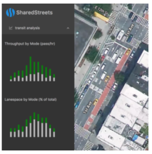 Screen Shot of SharedStreets Transit APP