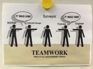 teamwork poster Scanning for Construction