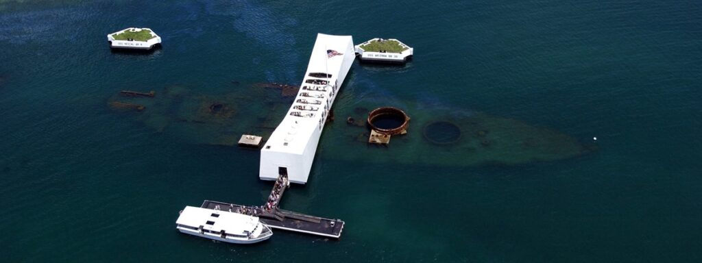 Photo of Pearl Harbor Memorial Surveying Engineering and Pearl Harbor - 50 Years Later