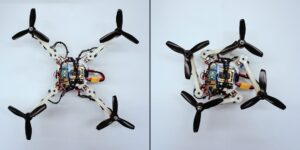 Foldable Drone in Two Forms - Photo: University of Zurich and EPFL