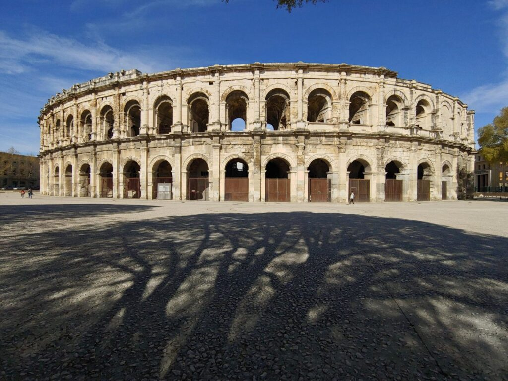 Image of documenting The Arena in Nimes, France