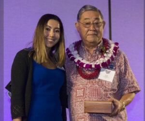 Photo of Dennis Hirota Receives Award