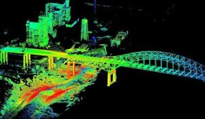 point cloud of bridge JASR Systems to Develop Lidar