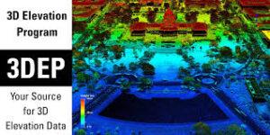 point cloud of capital 3D Elevation Program - USGS