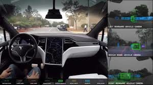 Image of car with Tesla Autopilot