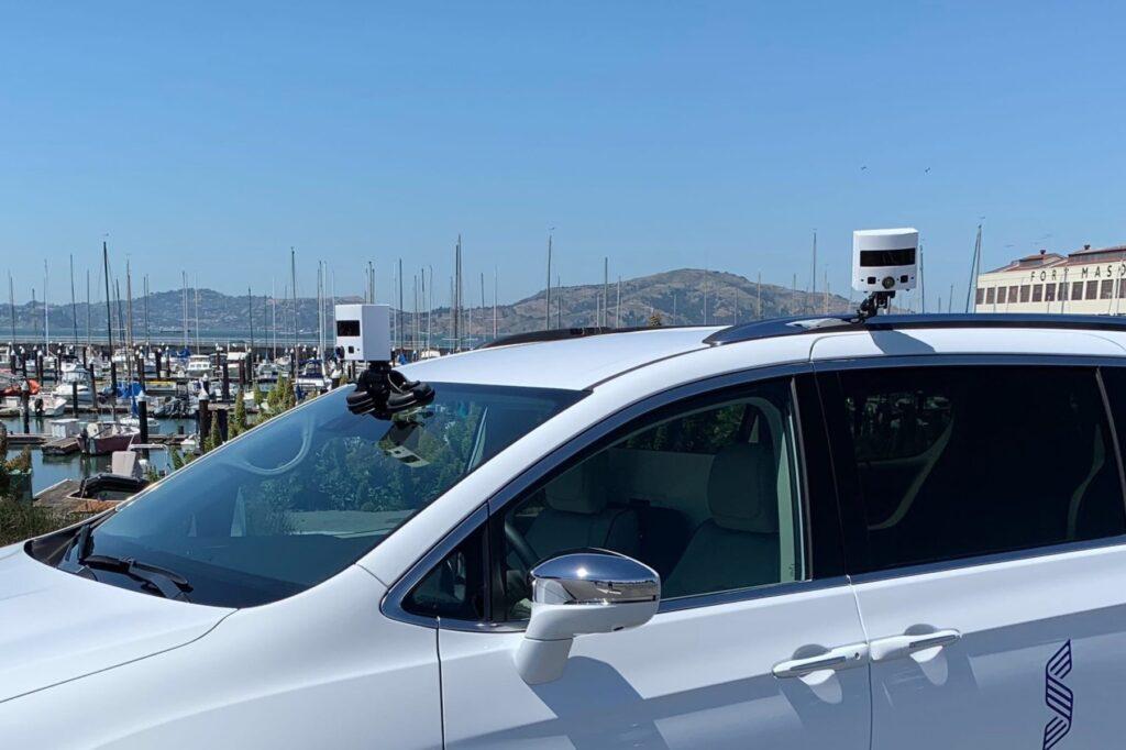 Image of Vehicle with Sense Photonics Emerges with Flexible Flash Lidar