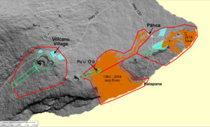 Mapo of USGS to Perform Lidar Survey of Lava Flows