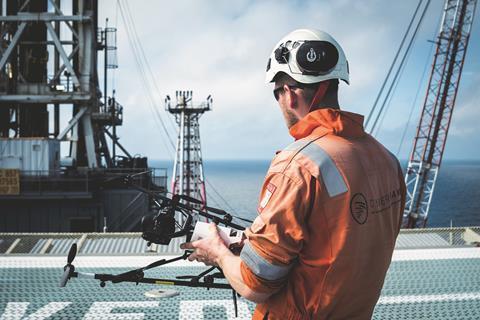 Image of UAVs on Offshore Platform