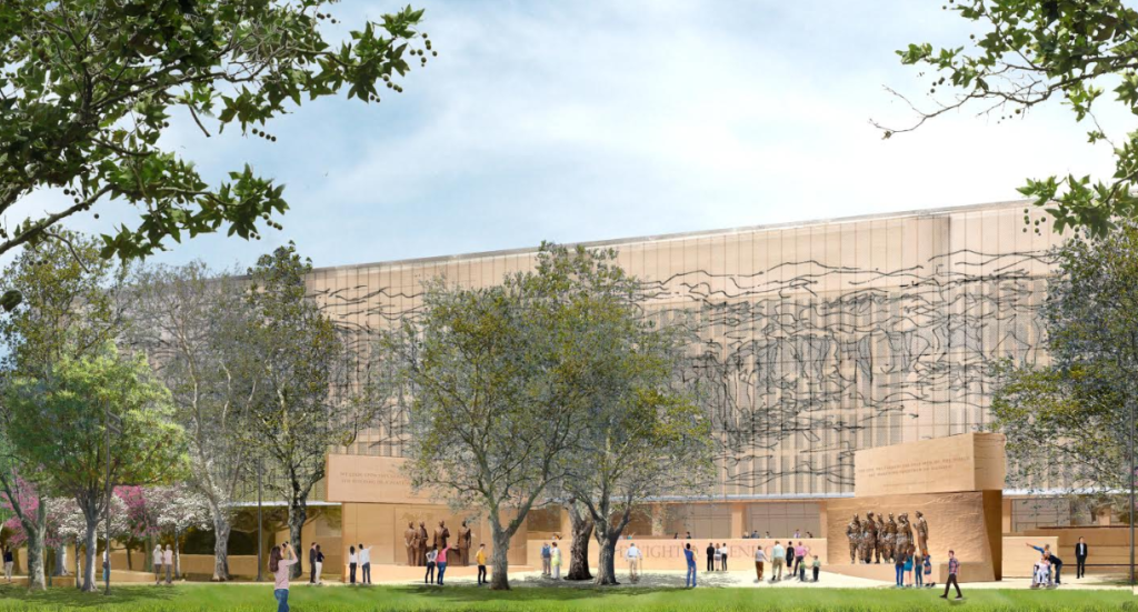 Rendering of Eisenhower Memorial Includes Gehry-Designed Panels