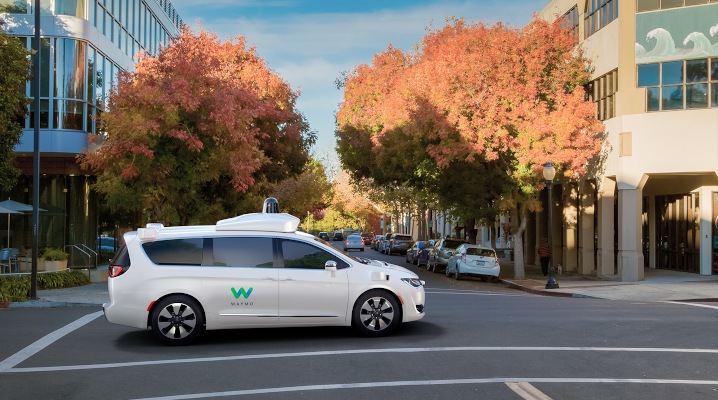 Image of Waymo car Levandowski Charged