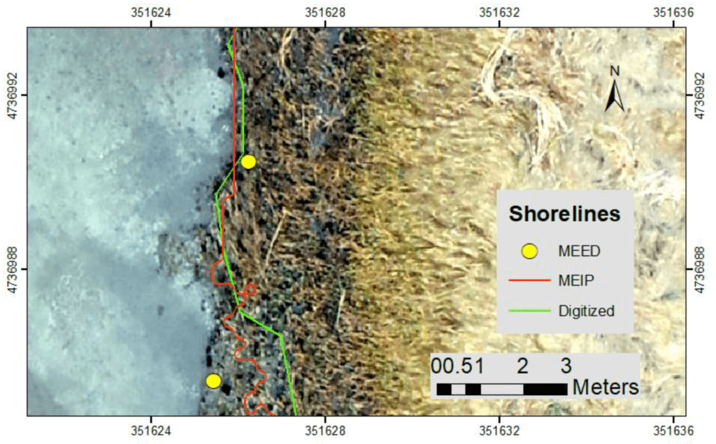 Map of Monitoring Salt Marsh Shorelines