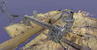 point cloud of Launch Pad 39B at the Kennedy Space Center