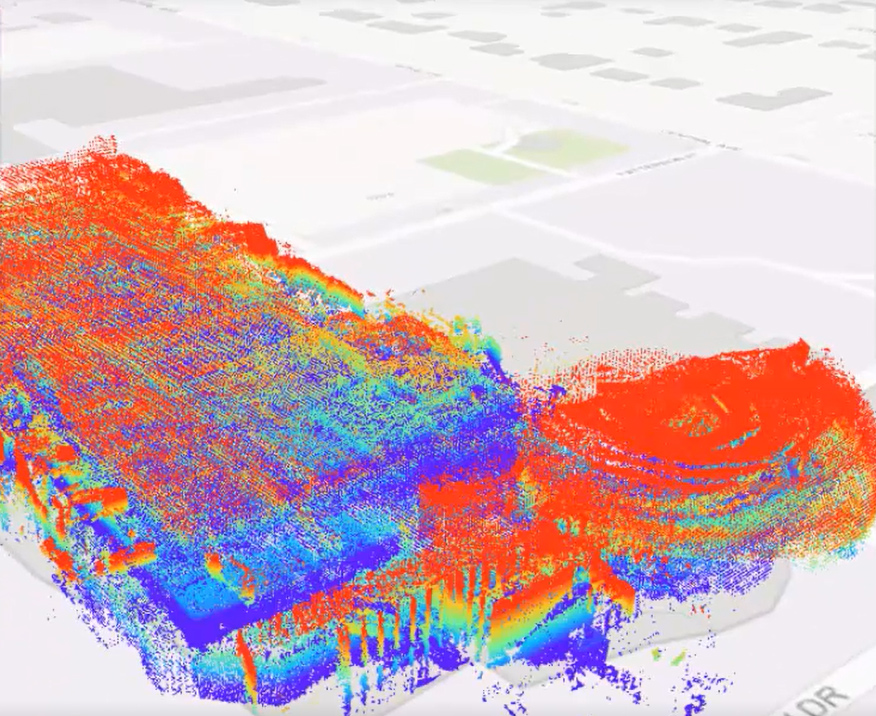 point cloud for Firefighter Safety Improved with 3-D Mapping