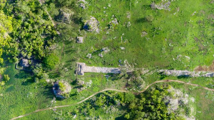 aerial photo of Lidar Discovers Ancient Mayan Road