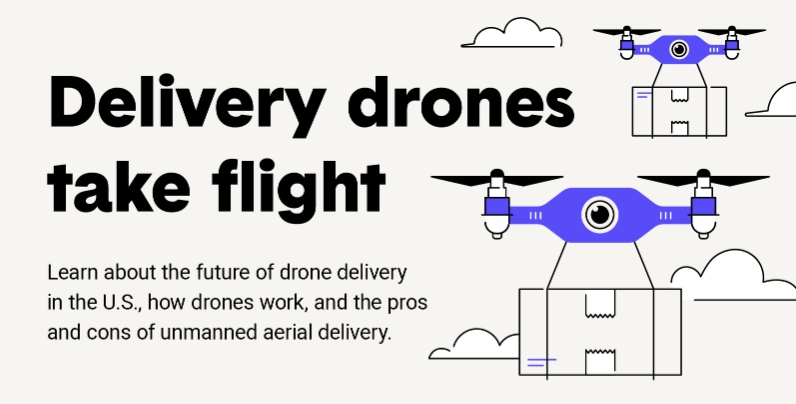 Graphic for Delivery Drones - Now More Than Ever?