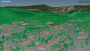 point cloud of Enview Uses AI to Process Lidar Data